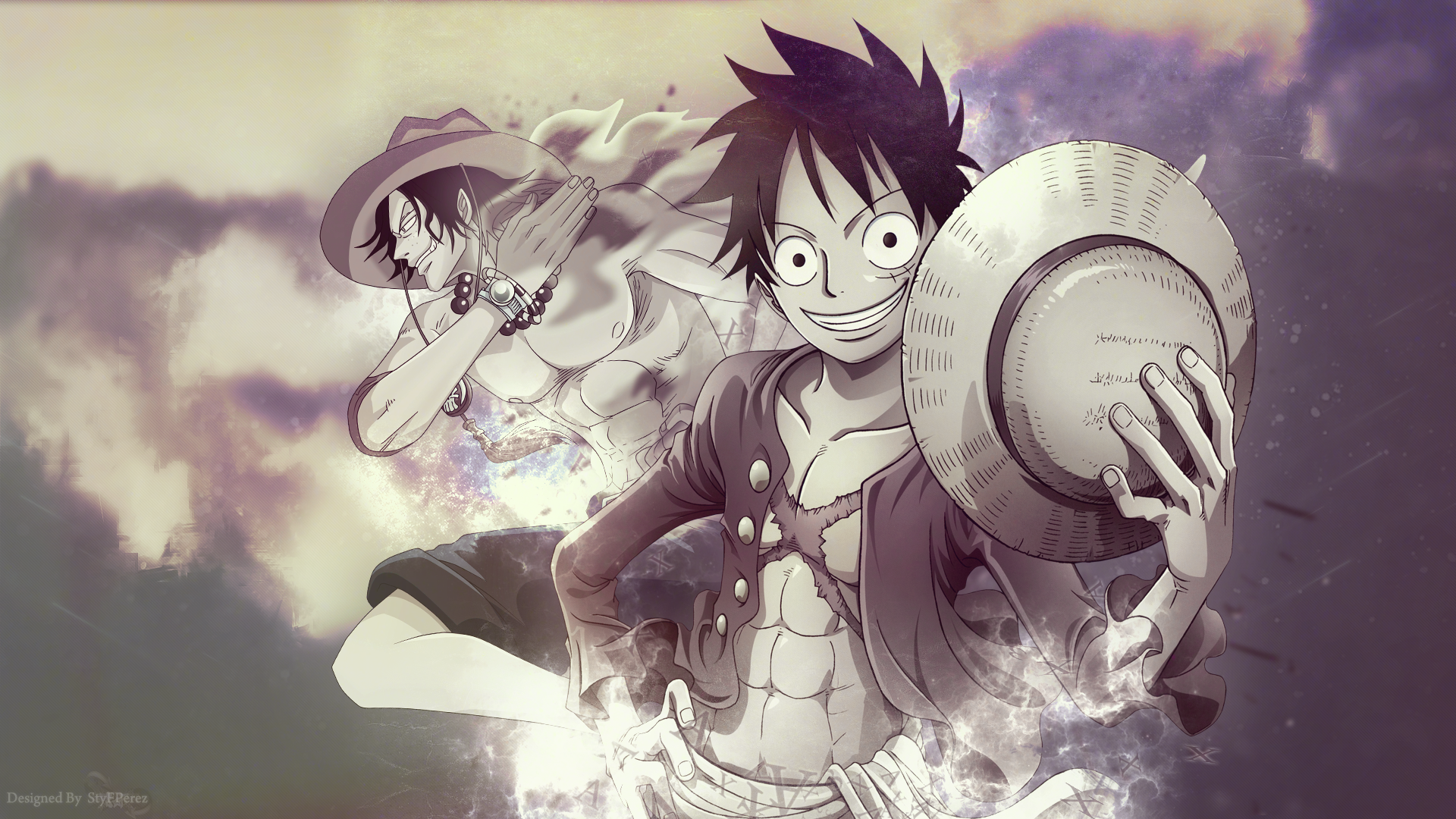 Luffy and Ace by StyF17