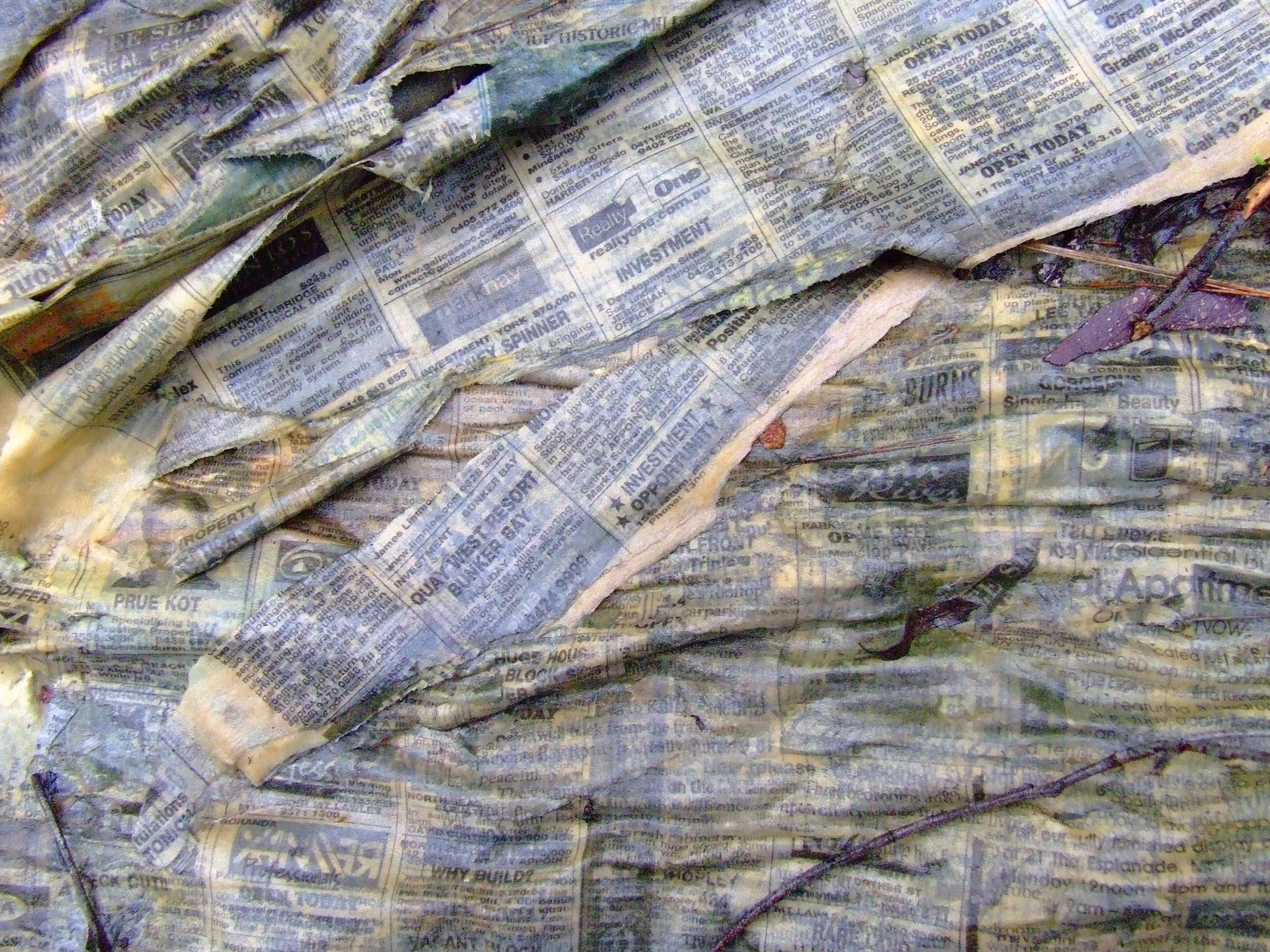 Wet Newspaper by dazzle-textures
