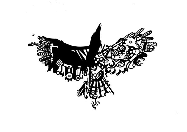 mechanical crow by ADAtheQueenOfHEARTS
