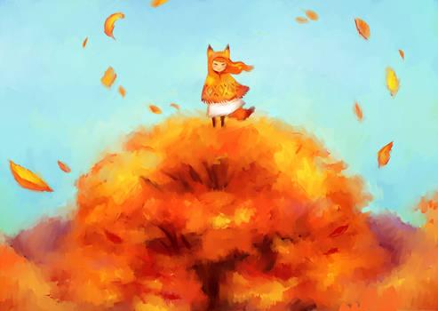 Friday's doodle. Theme: autumn