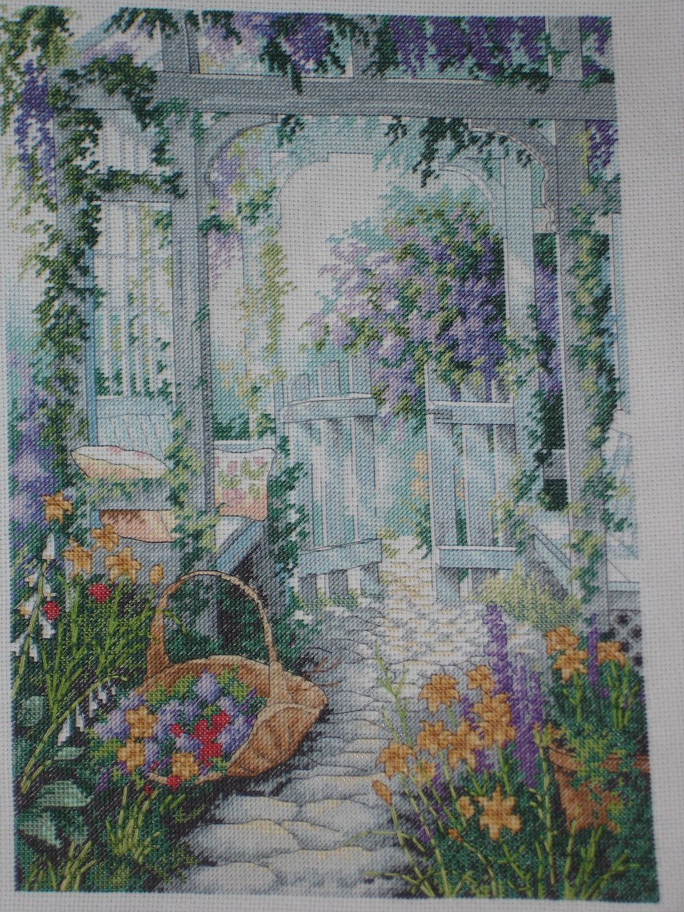 The Garden Gate cross stitch by stardancer1