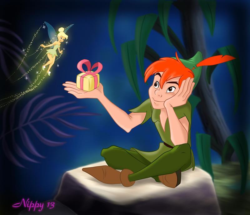 Belles images Disney Deviantart Peter_Pan___My_Valentine_by_nippy13