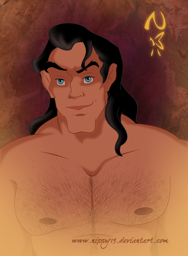 Gaston-Hairy Chest by Nippy13