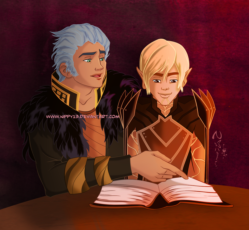 Arias and Fenris by Nippy13