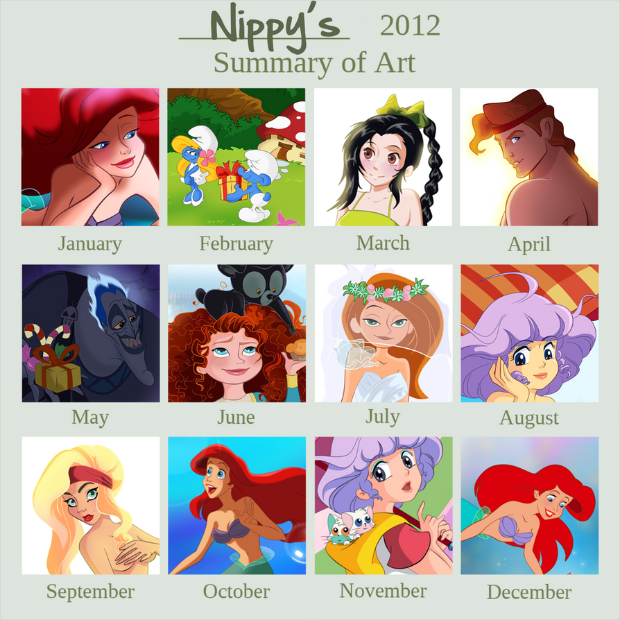 Nippy's 2012 Art Summary by Nippy13