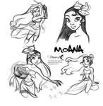 Moana Doodles