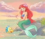 Ariel-a warm sunset