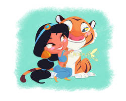 Jasmine and Rajah by Nippy13