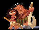 Moana and Maui Chibi
