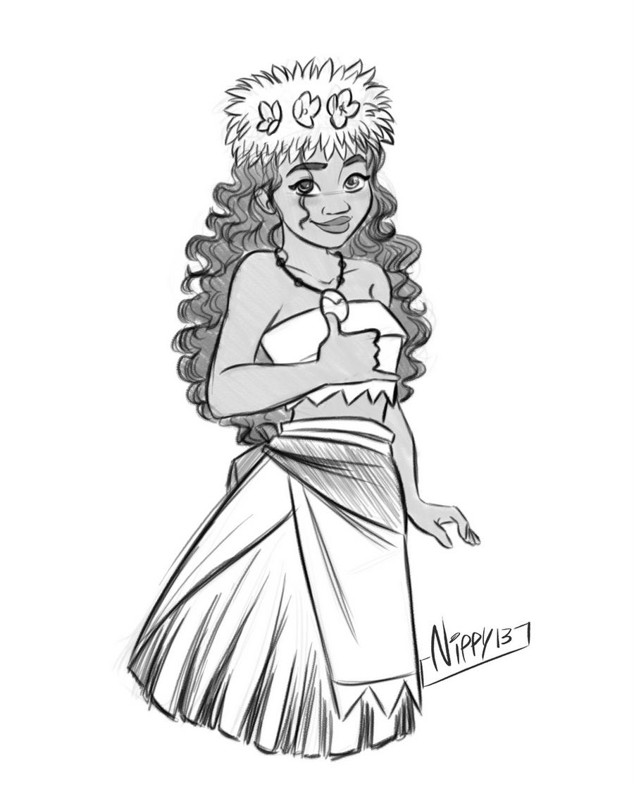 Moana sketch 04 by Nippy13