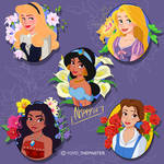 Flowery Princess collection pins pack 1