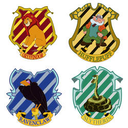 harry potter houses by Nippy13