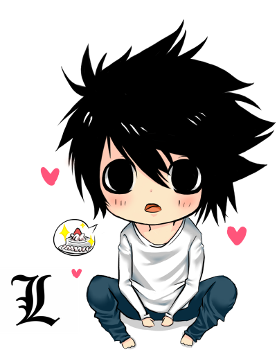 Death Note L Chibi :D by BananaQueen9 on DeviantArt