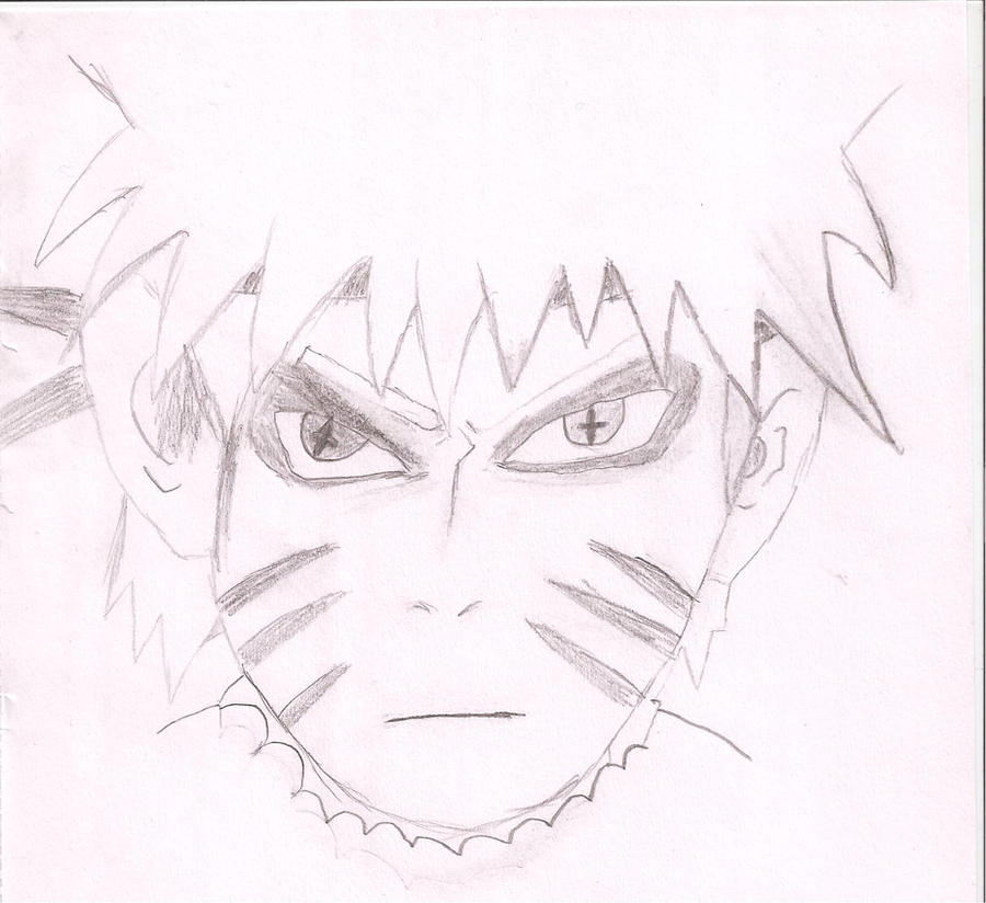 Naruto Sage mode With Kyuubi markings Drawing by ...