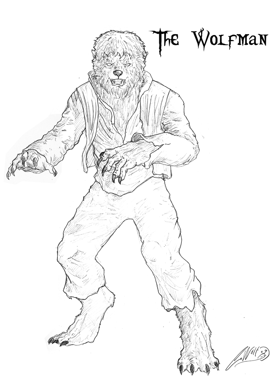 Coloring Pages Wolfman Coloring Pages the wolfman by lycaonronnan on deviantart lycaonronnan