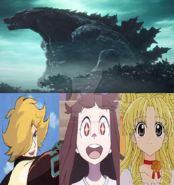 The Protectors Admiring Godzilla by Sparrow12592