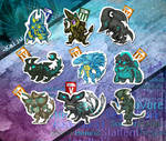 Kaiju Stickers
