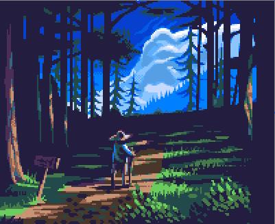 Walkin' in the Woods by Xamlllew
