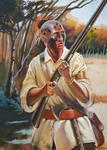Shawnee Native Warrior