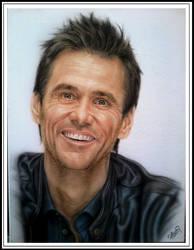 Jim Carrey portrait on canvas