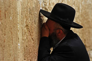 Orthodox Jew, Western Wall by fourthwall
