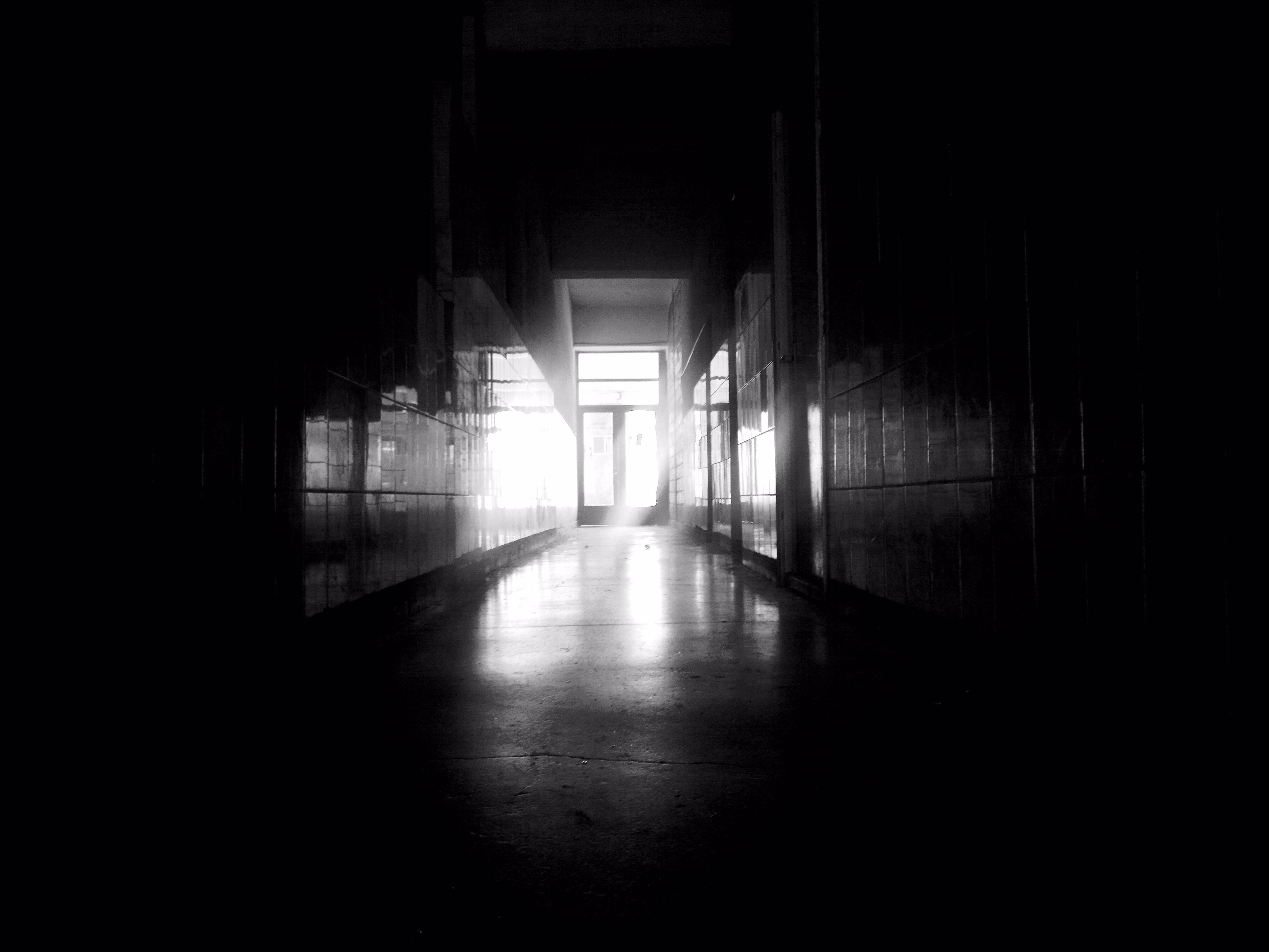 bw dark hallway by LETSOC bw dark hallway by LETSOC