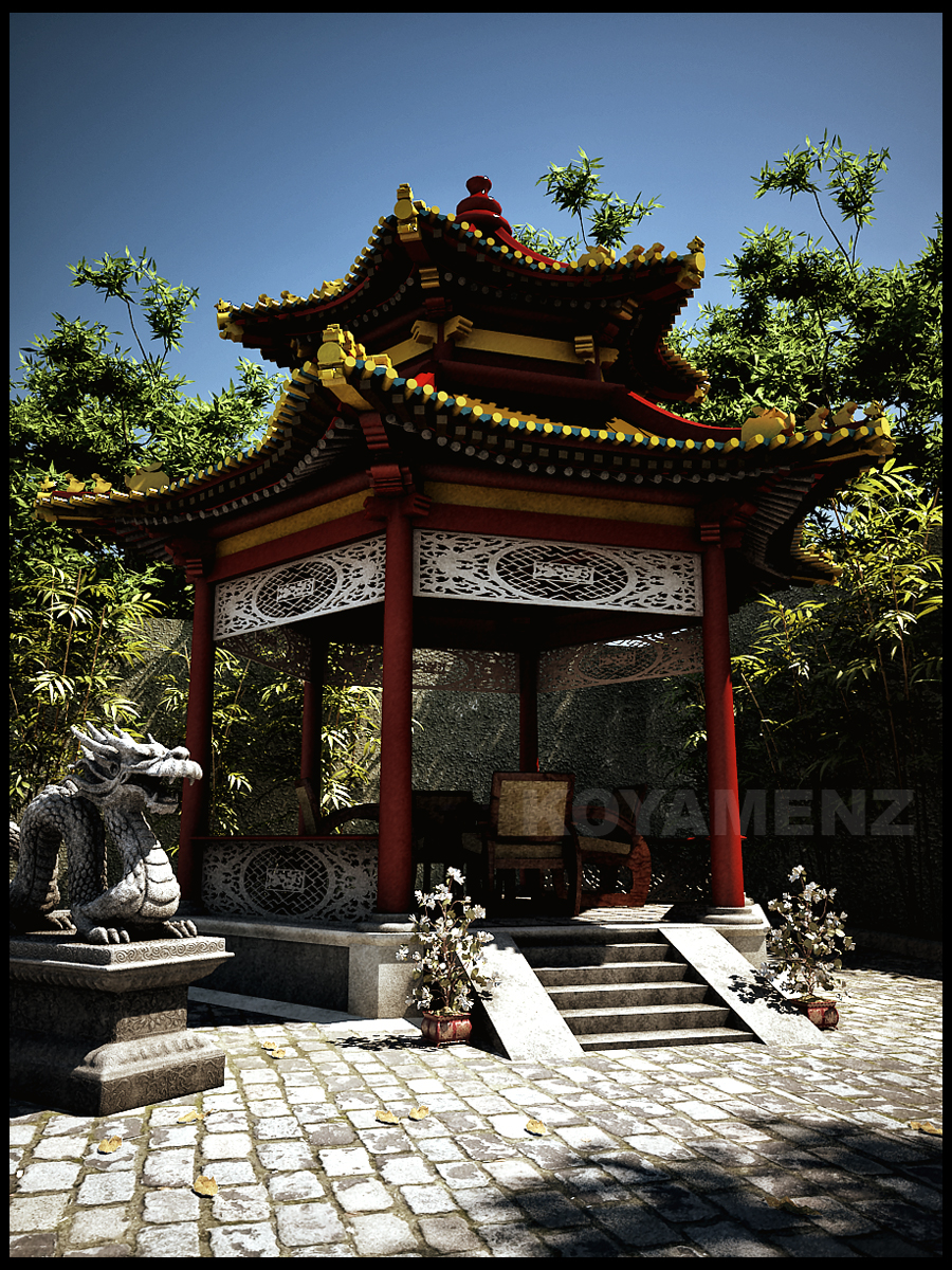 Chinesse Garden by koyamenz
