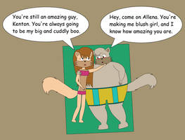 Allena And Kenton Snuggle