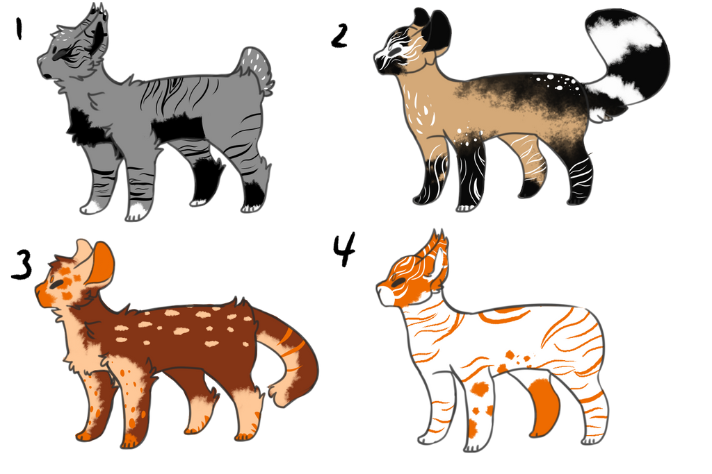 (open #4!) kitty adopts 5 by OverLord-Adopts