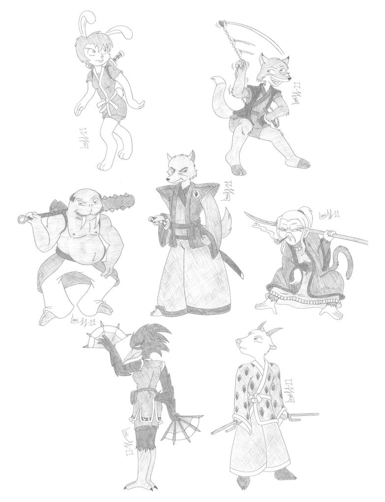 The Seven Furry Samurai by Limpurtikles