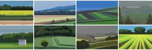Picardy landscape graphic study 1