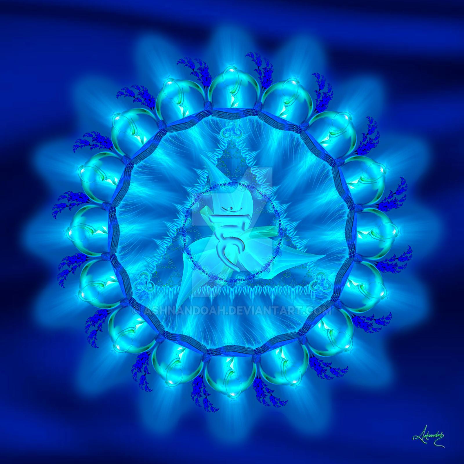 Throat Chakra Symbol, Vishuddha by Ashnandoah