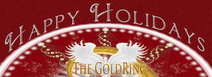 Happy Holidays Dna Gold