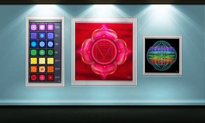 chakra wall display by Ashnandoah