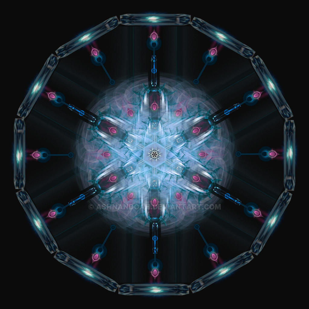 Stained Glass Mandalas 1 by Ashnandoah