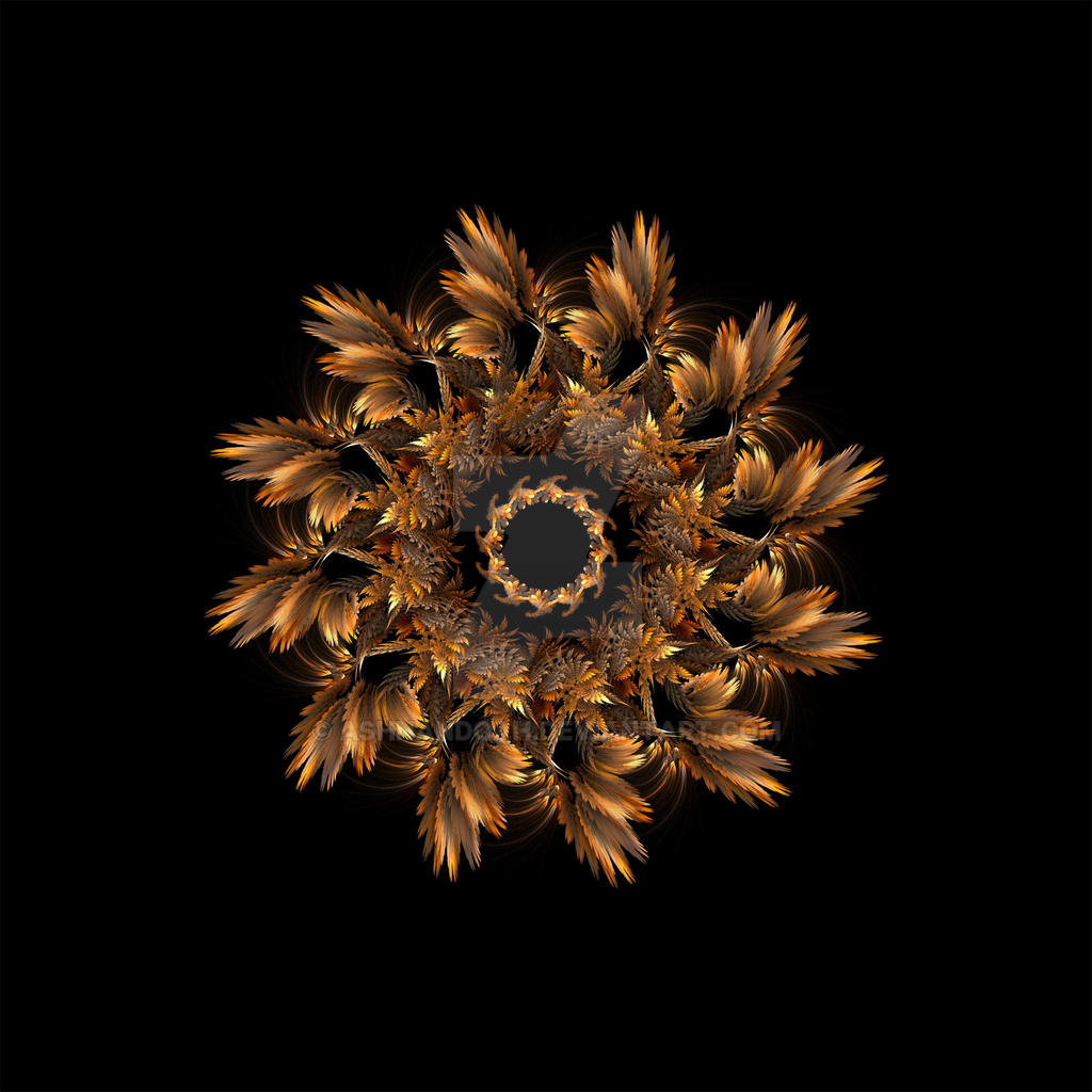 Mandala Autumn Feathers by Ashnandoah