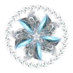 Mandala Blue Whisps whi