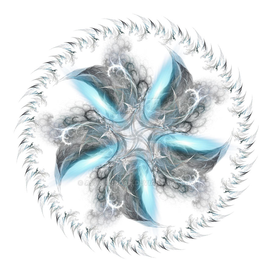 Mandala Blue Whisps whi by Ashnandoah