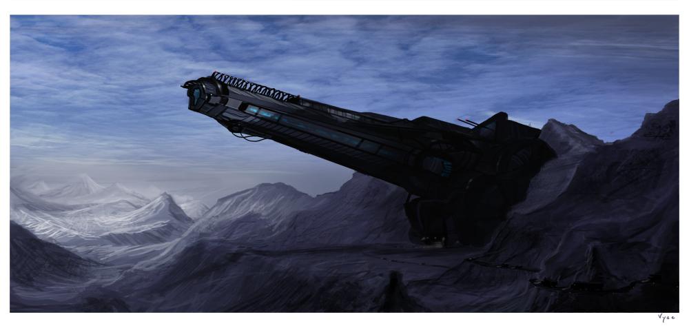 Orbital Cannon by BlueRogueVyse