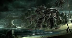 Amphibious War Beast by BlueRogueVyse