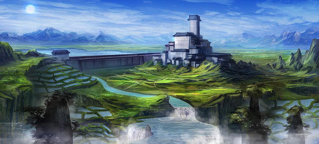 Rice terraces by BlueRogueVyse