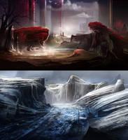 Landscape speedies by BlueRogueVyse