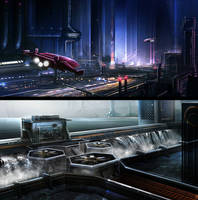 Sci-Fi environments by BlueRogueVyse