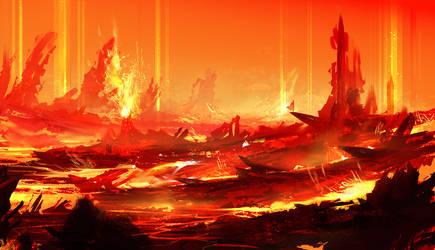Volcano Core by BlueRogueVyse