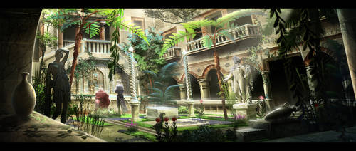 Inner Courtyard by BlueRogueVyse