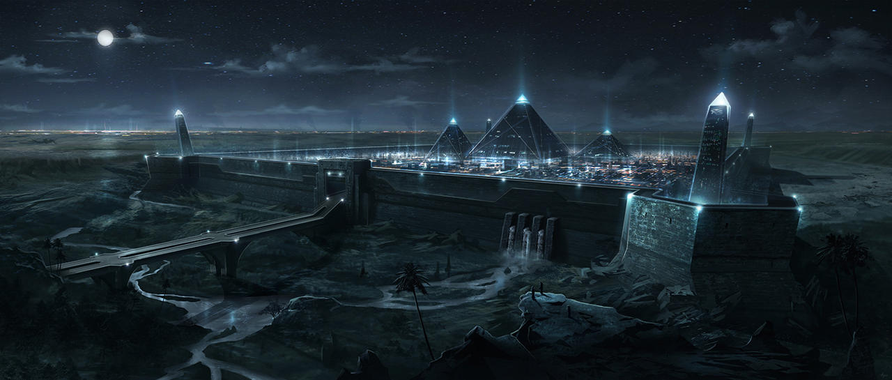 Pyramid City by BlueRogueVyse