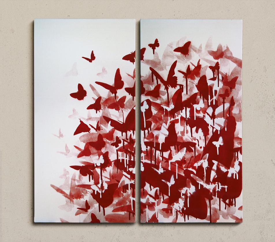 Dripping butterflies by shureoner