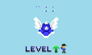 8 Bit Blue Shell Sprites - Level UP