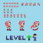 Amy Rose Sprites - Level UP