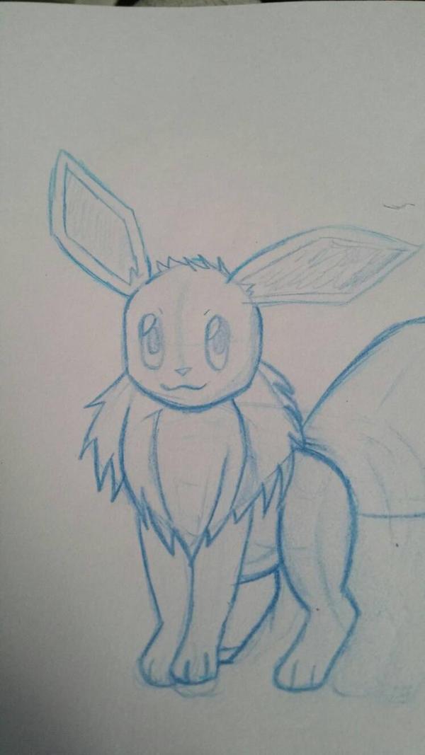 quick pokemon sketch eevee by Zcanzer